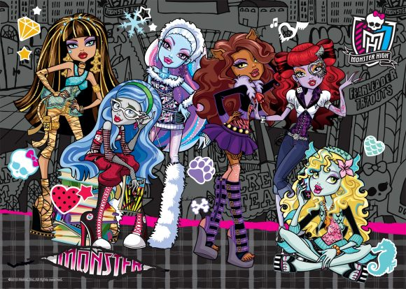 Пазлы 500 Monster High 2, чемодан