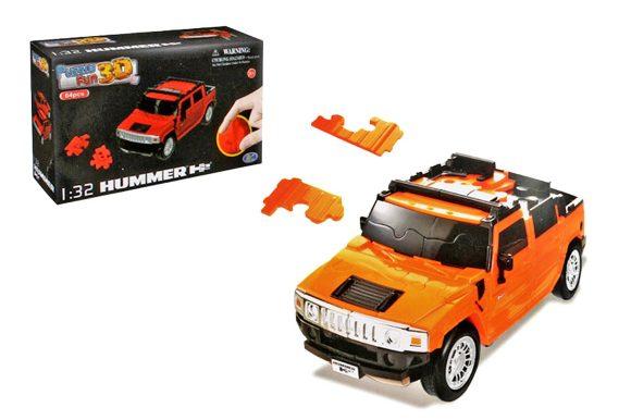 HAPPY WELL Пазл 3D Non Assemble (Solid version) 1:32 Hummer H2 57100