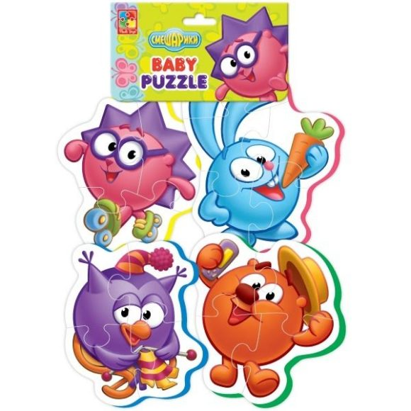 Пазлы мягкие Baby puzzle Смешарики